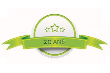 20 ans de satisfaction client !